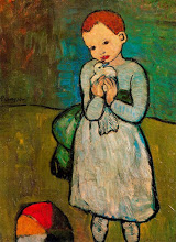 picasso girl with pigeon